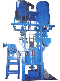 Flake resin sand coating plant